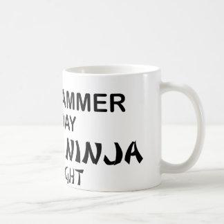 Programmer Deadly Ninja by Night Classic White Coffee Mug