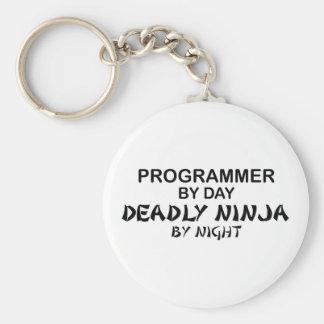 Programmer Deadly Ninja by Night Basic Round Button Keychain
