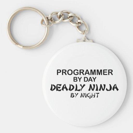 Programmer Deadly Ninja by Night Keychains