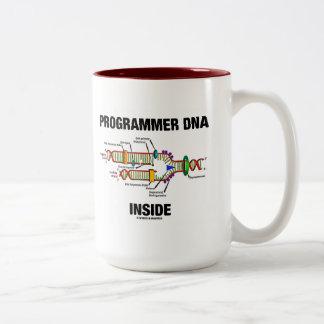 Programmer DNA Inside (DNA Replication) Two-Tone Coffee Mug