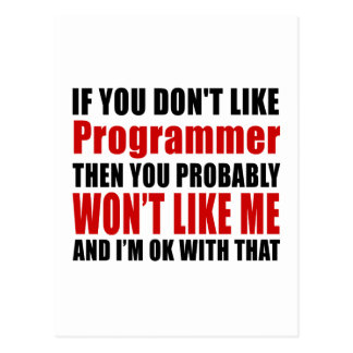 Programmer Don't Like Designs Postcard