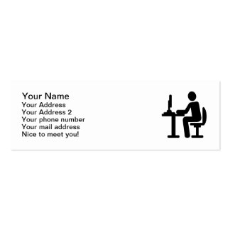 Programmer Double-Sided Mini Business Cards (Pack Of 20)
