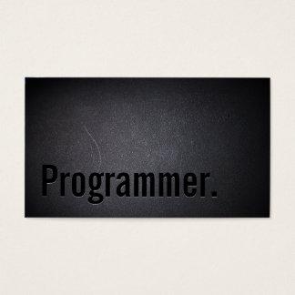 Programmer Elegant Black Professional Minimalist Business Card