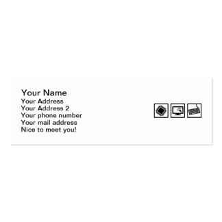 Programmer equipment Double-Sided mini business cards (Pack of 20)
