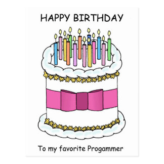 Programmer Happy Birthday Postcard