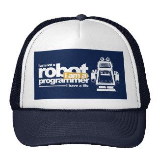programmer hat: i'm not a robot trucker hat