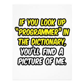 Programmer In Dictionary...My Picture Flyers