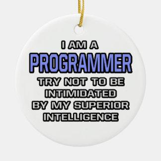 Programmer Joke Superior Intelligence Christmas Tree Ornament