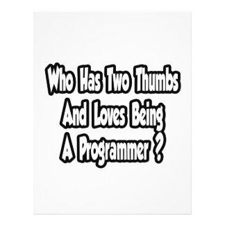 Programmer Joke...Two Thumbs Flyer Design