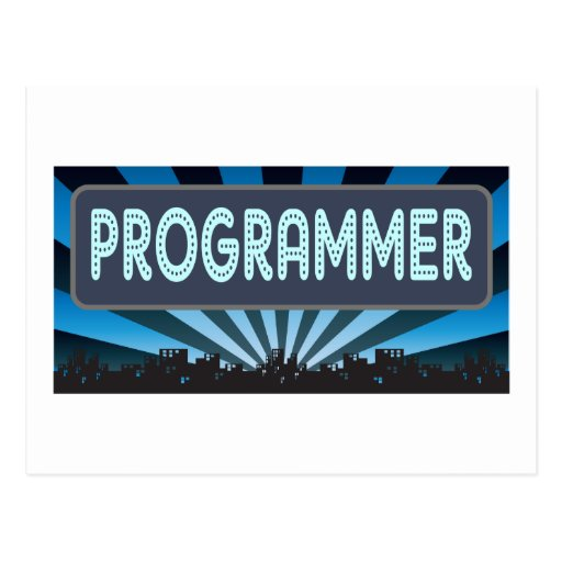Programmer Marquee Postcard
