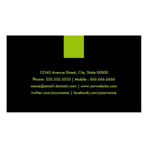 Programmer Modern Mint Green Business Card Templates (back side)