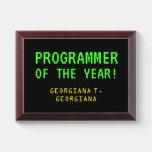 "[ Thumbnail: ""Programmer of The Year!"" + Custom Name Award Plaque ]"