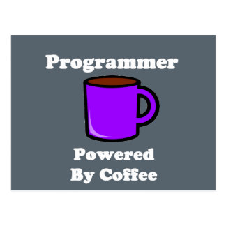 """""""Programmer"""" Powered by Coffee Postcard"""