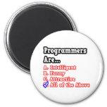 Programmer Quiz...Joke Fridge Magnet