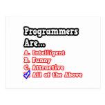 Programmer Quiz...Joke Postcard