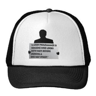 Programmer quote trucker hat