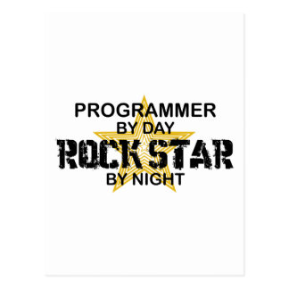 Programmer Rock Star by Night Postcard