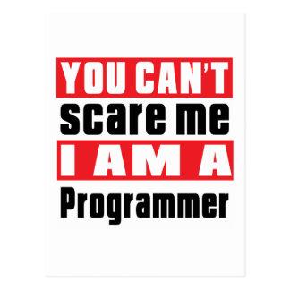 Programmer scare designs postcard