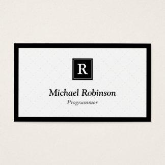Programmer - Simple Elegant Monogram Business Card