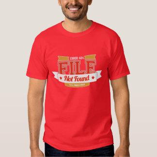programmer t-shirt: error 404 file not found t shirt