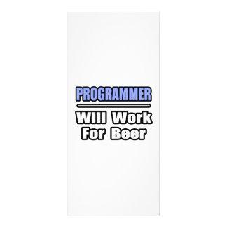 Programmer...Will Work For Beer Full Color Rack Card