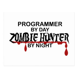 Programmer Zombie Hunter Postcard