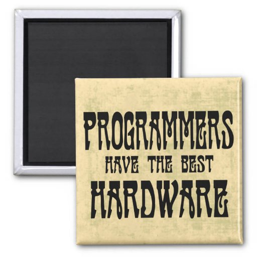 Programmers Hardware 2 Inch Square Magnet