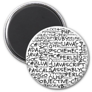Programmers Have Multiple Programming Skills 2 Inch Round Magnet