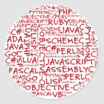 Programmers Have Multiple Programming Skills Classic Round Sticker