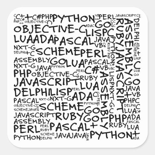 Programmers Have Multiple Programming Skills Square Sticker