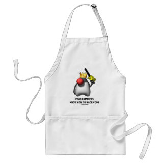 Programmers Know How To Hack Code (Open Source) Adult Apron