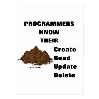 Programmers Know Their CRUD Postcard