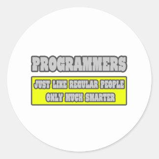 Programmers...Much Smarter Classic Round Sticker