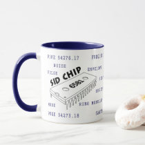 Programmer's Mug - C64 6581 SID Chip (Outline)