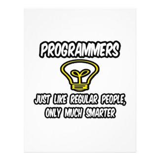 Programmers...Regular People, Only Smarter Custom Flyer