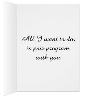 Programmers valentines card