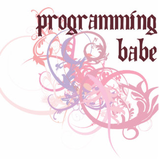 Programming Babe Photo Sculpture Ornament