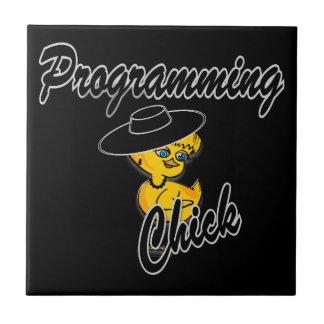 Programming Chick #4 Ceramic Tile