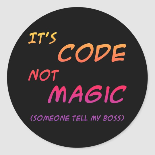 Programming Humor Sticker