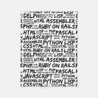 Programming Languages (Java, Pascal) - Black Fleece Blanket