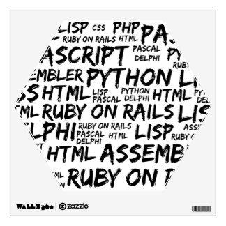 Programming Languages (Java, Pascal) - Black Wall Sticker