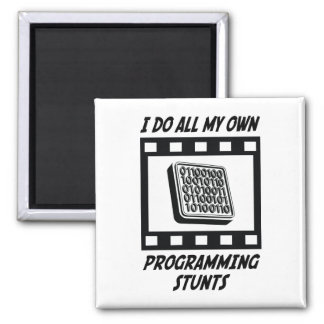 Programming Stunts 2 Inch Square Magnet