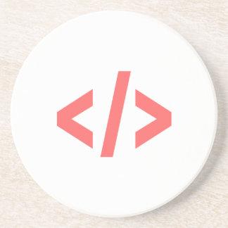 Programming Tag Drink Coaster
