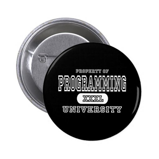 Programming  University Dark Pinback Button