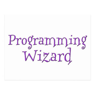 Programming Wizard Postcard