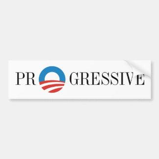 Progresista de Favorable-Obama Pegatina De Parachoque
