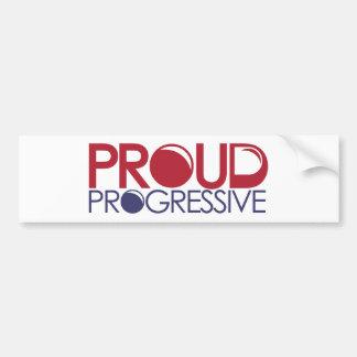 Progresista orgulloso pegatina para auto