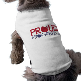 Progresista orgulloso playera sin mangas para perro