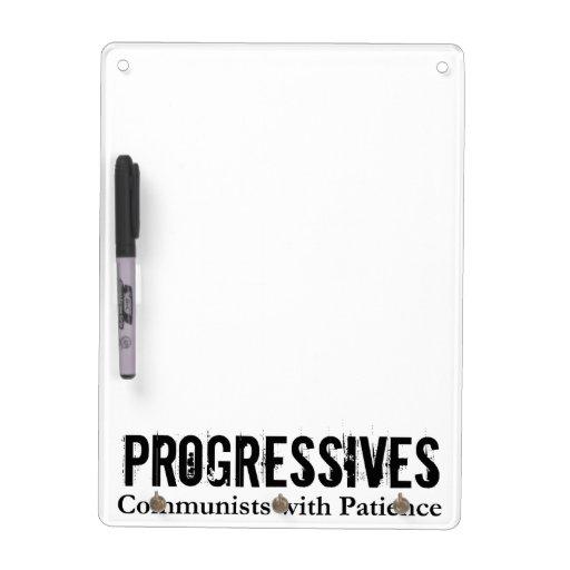 Progresistas: Comunistas con paciencia (en blanco) Tablero Blanco