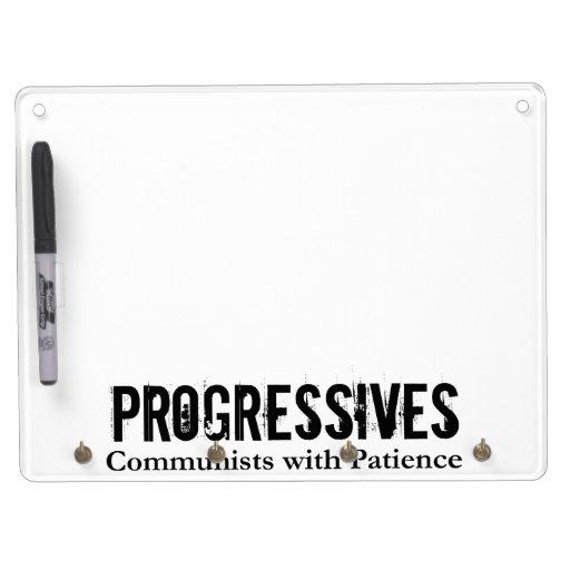 Progresistas: Comunistas con paciencia (en blanco) Tableros Blancos